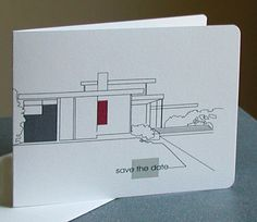 Modern Architecture Save the Date Invites. $15.00, via Etsy.