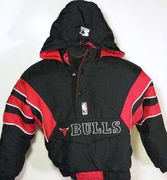 Vintage Chicago Bulls Youth Small STARTER Pullover Jacket  #Starer #ChicagoBulls