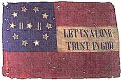 Flag of The Louisiana 6th Infantry, 2nd Battle of Fredericksburg, largely Irish Confederate regiment.