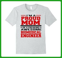 Mens I'm A Proud Mom of a Freaking Awesome Biomedical Engineer XL Heather Grey - Careers professions shirts (*Amazon Partner-Link)