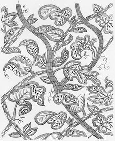 Book from Project Gutenberg: Jacobean Embroidery: Its Forms and Fillings Including Late Tudor Jacobean Embroidery, Blackwork Embroidery, Crewel Embroidery, Hand Embroidery Patterns, Embroidery Books, Gold Work, Pattern Design, Needlework, Cross Stitch