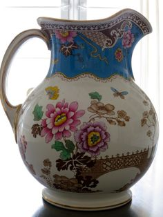 ~ Lovely Hand Painted Pitcher ~