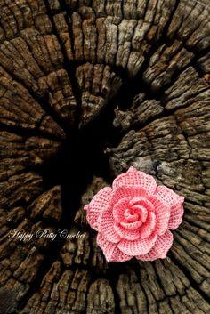 Design Done: Crochet Rose Applique by Happy Patty Crochet