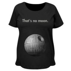 That's no moon. It's a baby! Funny custom maternity shirts are great gifts for those expecting mothers who love sci-fi movies, droids, video games and more! Pregnancy Videos, Funny Pregnancy Shirts, Pregnancy Gifts, Funny Shirts, Cute Maternity Outfits, Maternity Tees, Funny Maternity, Maternity Style, Funny Mothers Day Gifts