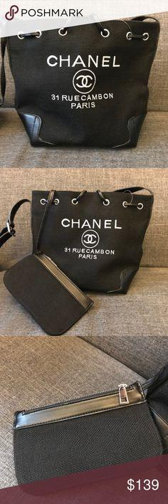 52b64d3ef332 CHANEL Large Black Tote  fashion  clothing  shoes  accessories   womensbagshandbags  seemorecha…
