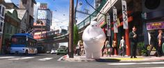 """America and Japan have been sharing—and sometimes stealing—ideas from one another since the end of WWII. In Disney's new movie, """"Big Hero 6,"""" two onscreen cultures share the same world, """"tethered by mutual respect."""" http://nyr.kr/1sP5E2U (Photograph courtesy Walt Disney Studios Motion Pictures / Everett)"""