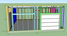 fabrication d'un double garage ossature bois - Page 4 - Forum copain des copeaux Double Garage, Facade, Locker Storage, Wood Construction, Law School, Double Carport, Facades