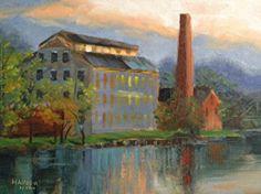 Seneca Falls by Alice Hauser Oil ~ 14 x 11