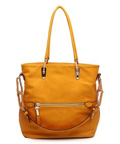 Another great find on #zulily! MKF Collection Mustard Venice Elegant Tote by MKF Collection #zulilyfinds