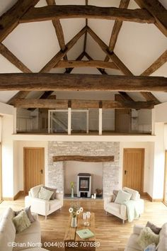 Barns conversion to homes brian north photography real homes magazine barn converted home farmhouse decorating ideas house tours Barn Conversion Interiors, Barn House Conversion, Fireplace Logs, Converted Barn, Barn Renovation, Barn Living, Living Room, Modern Barn, House And Home Magazine