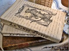 Vintage French Fairy Tale Book Covers...covering old paperback books! :-)