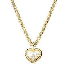 Chopard Pendentif - Happy Diamonds En or jaune 18 carats, le pendentif Chopard Happy Diamonds est de toute beauté avec ses cinq Happy Diamonds, ou diamants mobiles, d'une blanche...