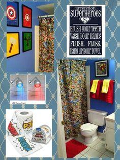 Very Cool Superhero Bathroom Decor