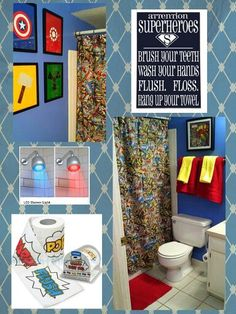 Can't wait to do this to our bathroom!!!! #Avengers