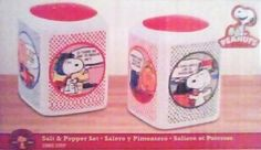 PEANUTS GANG Comic Strip Salt & Pepper Set by Gibson. $10.99. Features the Peanuts Gang Comic Strip Theme. Peanuts Gang comic strip salt and pepper shaker set.  Boxed.