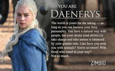 Which 'Game of Thrones' Character Are You?
