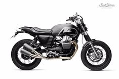 "Moto Guzzi Street Tracker ""Savile"" by South Garage Motor Co Norton Cafe Racer, Triumph Cafe Racer, Cafe Racers, Bobber Custom, Custom Motorcycles, Custom Bikes, Moto Guzzi Motorcycles, Scrambler Motorcycle, Tracker Motorcycle"