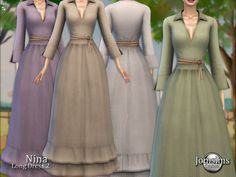Sims 4 Challenges, Sims 4 Tsr, Sims Medieval, Sims 4 Clothing, Female Clothing, Frilly Skirt, Sims4 Clothes, Sims 4 Dresses, Sims 4 Characters