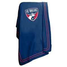 Logo Brand FC Dallas Classic Fleece Blanket, Blue
