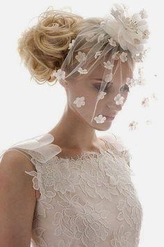 mobile site-Advanced vintage flower veil the bride hair accessory birdcage veil Bridal Hat, Bridal Headpieces, Bridal Style, Fascinators, Bridal Dresses, Flower Girl Dresses, The Bride, Flower Veil, Flower Petals