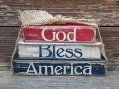 4th of July/Patriotic  Wood Stacker by DaisyBlossomCreation, $13.99