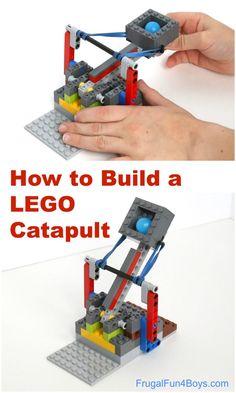 How to Build a Catapult with LEGO Bricks Pumpkin Launch! How to Build a Catapult with LEGO Bricks - fun STEM engineering activityPumpkin Launch! How to Build a Catapult with LEGO Bricks - fun STEM engineering activity Lego Club, Lego Design, Lego Technic, Technique Lego, Lego Machines, Lego Craft, Lego Lego, Lego Batman, Lego Chess