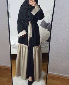Pinterest: @adarkurdish Hijab Style Dress, Modest Fashion Hijab, Abaya Fashion, Skirt Fashion, Fashion Dresses, Islamic Fashion, Muslim Fashion, Mode Kimono, Modele Hijab