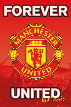 Manchester United Poster Glory Glory 61 x Sports Online Shopping Manchester United Fans, Manchester United Wallpaper, Forever Manchester, Premier League, But Football, Football Casuals, Patriots Football, Nike Football, Football Boots