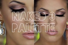 Urban Decay Naked 3 Palette | Smokey Rose Gold Eyes with Winged Liner & ...