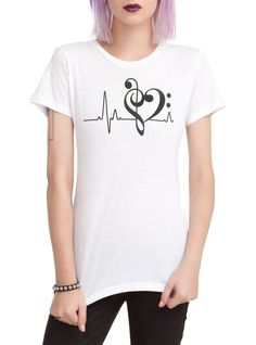 If your heart beats to music this is the tee for you!