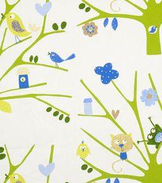 Home Decor Print Fabric-Eaton Square Birdseye /  Green
