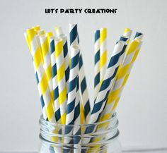 Charcoal Light Neutral Slate Fun Pretty Wedding Birthday Party Shower Accessories Set of 25 Paper Straws in Gray /& White Sailor Stripes