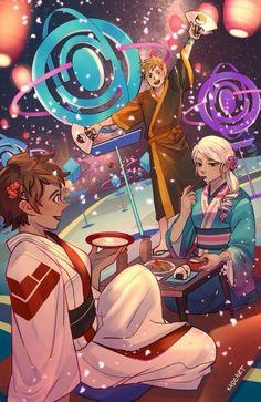 Candela, Blanche, and Spark at Pokestop's hanamatsuri #pokemongo