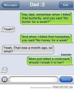 funny text message mom dad on imgfave