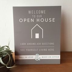 Open House Welcome Sign - No.5 – All Things Real Estate