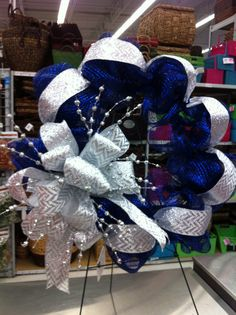 Christmas Mesh wreath by kristy@michaels