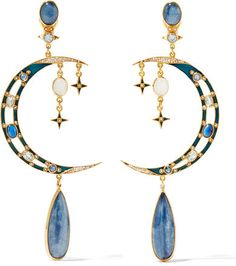 Percossi Papi - Gold-plated Multi-stone Earrings