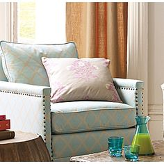 Jaipur Plum/Putty on Aqua/Putty for the bed - Serena and Lily