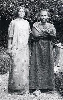 Gustave Klimpt and Emilie Louise Floge; http://sillysupper.blogspot.pt/2011/10/female-lover.html