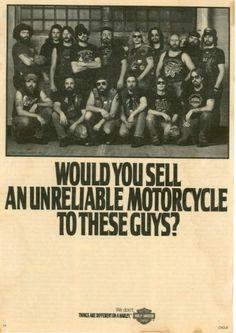 Mythic Harley Davidson. Myhtic ad too !