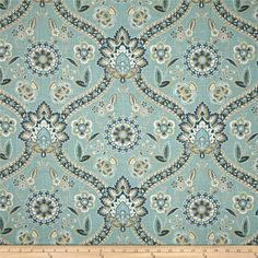 Swavelle/Mill Creek Salianna Blend Sea Mist from @fabricdotcom  Screen printed on a linen/rayon blend; this versatile medium weight fabric is perfect for window treatments (draperies, valances, curtains and swags), accent pillows, upholstering furniture, headboards, ottomans and poufs. Colors include white, tan, blue and sea mist.
