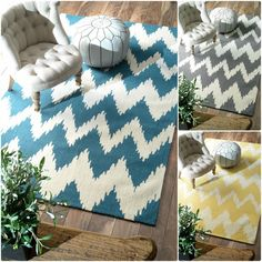nuLOOM Handmade Modern Ikat Chevron Rug - Overstock™ Shopping - Great Deals on Nuloom 7x9 - 10x14 Rugs