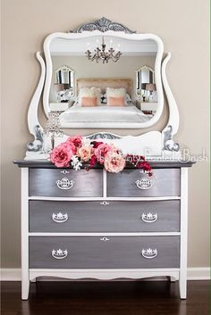 Items similar to Sold example: Antique Dresser Antique Dresser and Mirror painted furniture antique furniture chic furniture painted dresser vintage on Etsy Design Furniture, Home Decor Furniture, Shabby Chic Furniture, Vintage Furniture, Furniture Decor, Rustic Furniture, Modern Furniture, Outdoor Furniture, Dresser Furniture