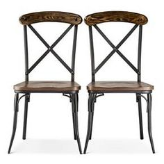 Bralton Dining Chair - Brown (Set of 2) - The Industrial Shop™ : Target
