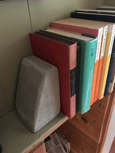my Dads version of concrete bookend!