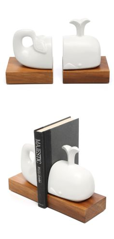 love the idea!-Whale bookends