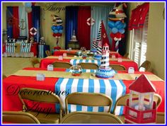 Nautical Birthday Party Ideas | Photo 6 of 30 | Catch My Party