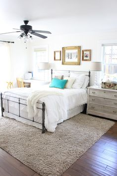 bedroom area rugs placement. Perfect Rugs Master Bedroom Refresh  The Difference Some White Paint Can Make  Rug  Placement BedroomArea  Inside Bedroom Area Rugs P