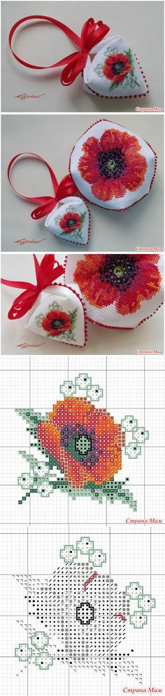 "Pendibul ""Mac"": Diary of the ""Biskornyu and other"" krivulki """" - Home Moms Biscornu Cross Stitch, Cross Stitch Charts, Cross Stitch Designs, Cross Stitch Patterns, Beaded Embroidery, Cross Stitch Embroidery, Hand Embroidery, Beading Patterns, Embroidery Patterns"