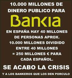 10.000 millones de dinero público para Bankia